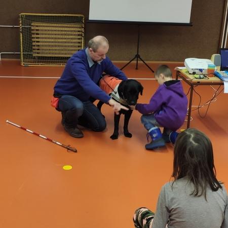 Komunitní setkání rodičů - 27.1 .2020 - ukázka canisterapie - život s hluchoslepotou